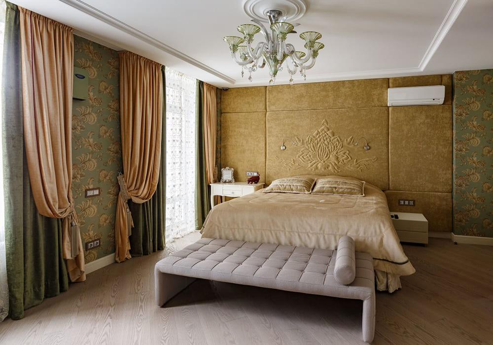 Текстильное оформление спальни для семейной пары 1